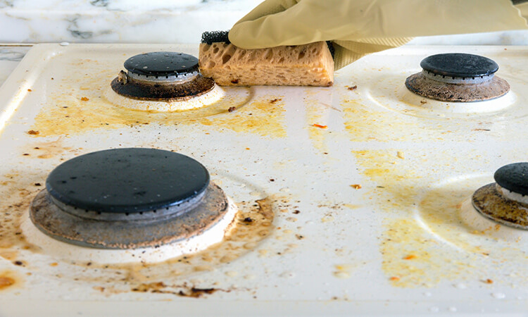 How To Clean Kitchen Stove Top